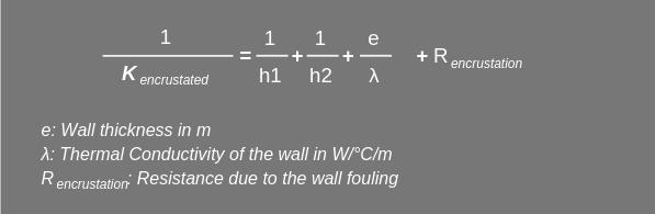 Heat Transfer coefficient Formula
